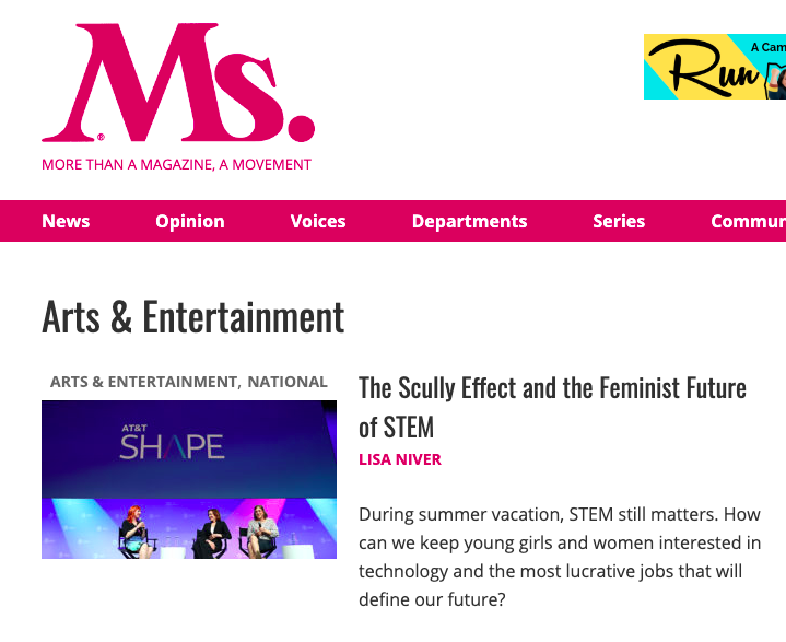The Feminist Future of STEM by Lisa Niver in Ms. Magazine