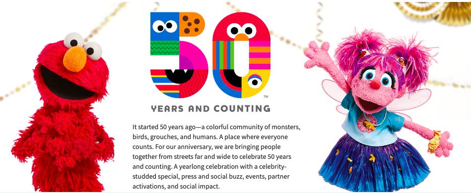 Sesame Street is 50