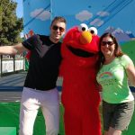 Aaron, Elmo and Lisa Niver at Sesame Street Road Show
