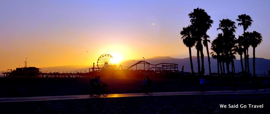 Sunset in Santa Monica by Lisa Niver
