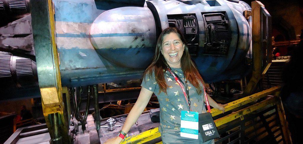 Lisa Niver at Disneyland Star Wars Galaxys Edge