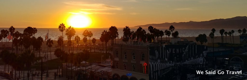 Sunset from the rooftop at Hotel Erwin