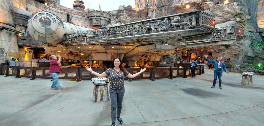 Lisa Niver at Star Wars Millennium Falcon