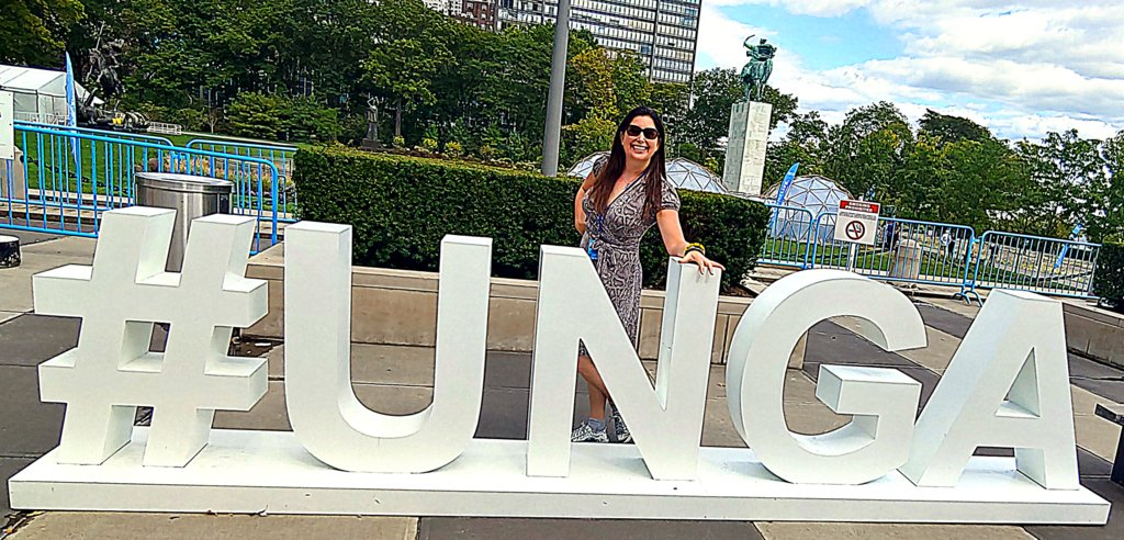 Lisa Niver at United Nations GA 74 2019