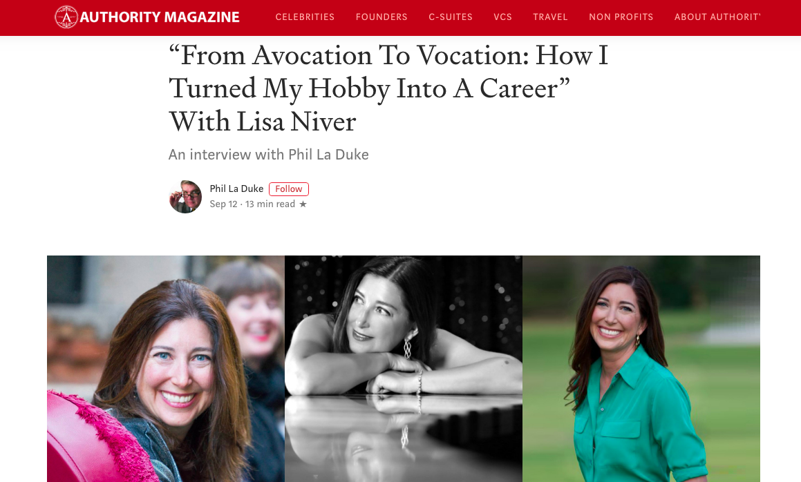 Lisa Niver in Authority Magazine: From Hobby to Career