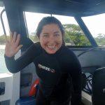 Lisa Niver scuba diving Coolidge in Vanuatu