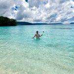 Lisa Niver at Champagne Beach in Vanuatu