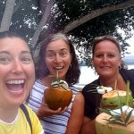 Lisa Tree and Mandy at Ratua Island Santo Vanuatu for Tok Tok 2019