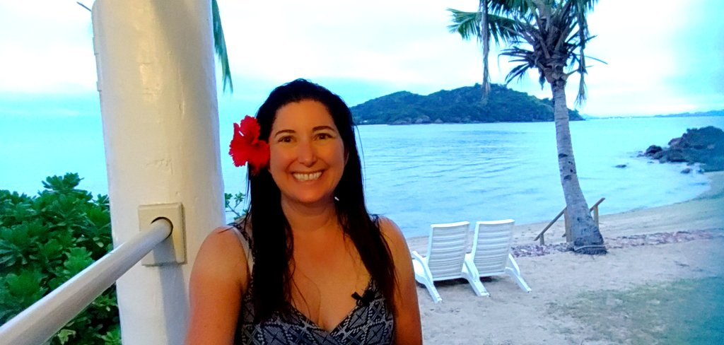 Lisa Niver at Malolo Island Resort in Fiji 2019