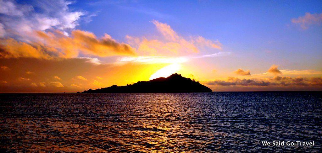 Sunset at Likuliku Lagoon Resort in Fiji by Lisa Niver