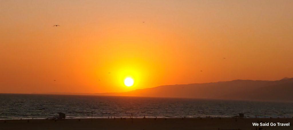 Sunset in Santa Monica by Lisa Niver Sept 11 2019