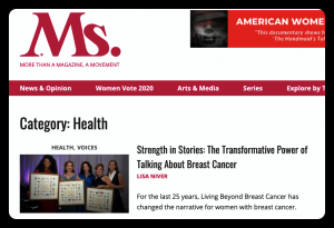 Ms. Magazine Strength in Stories by Lisa Niver
