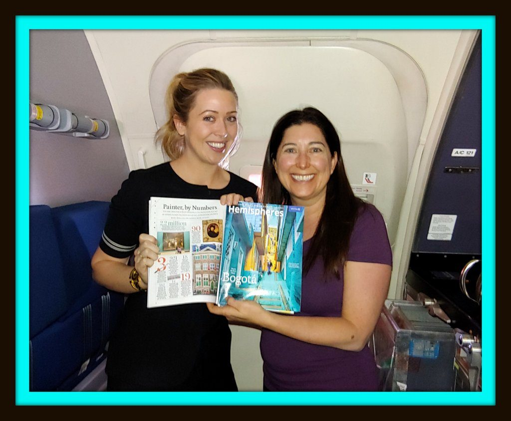 Lisa Niver on United Airlines with her story for Hemispheres Magazine!