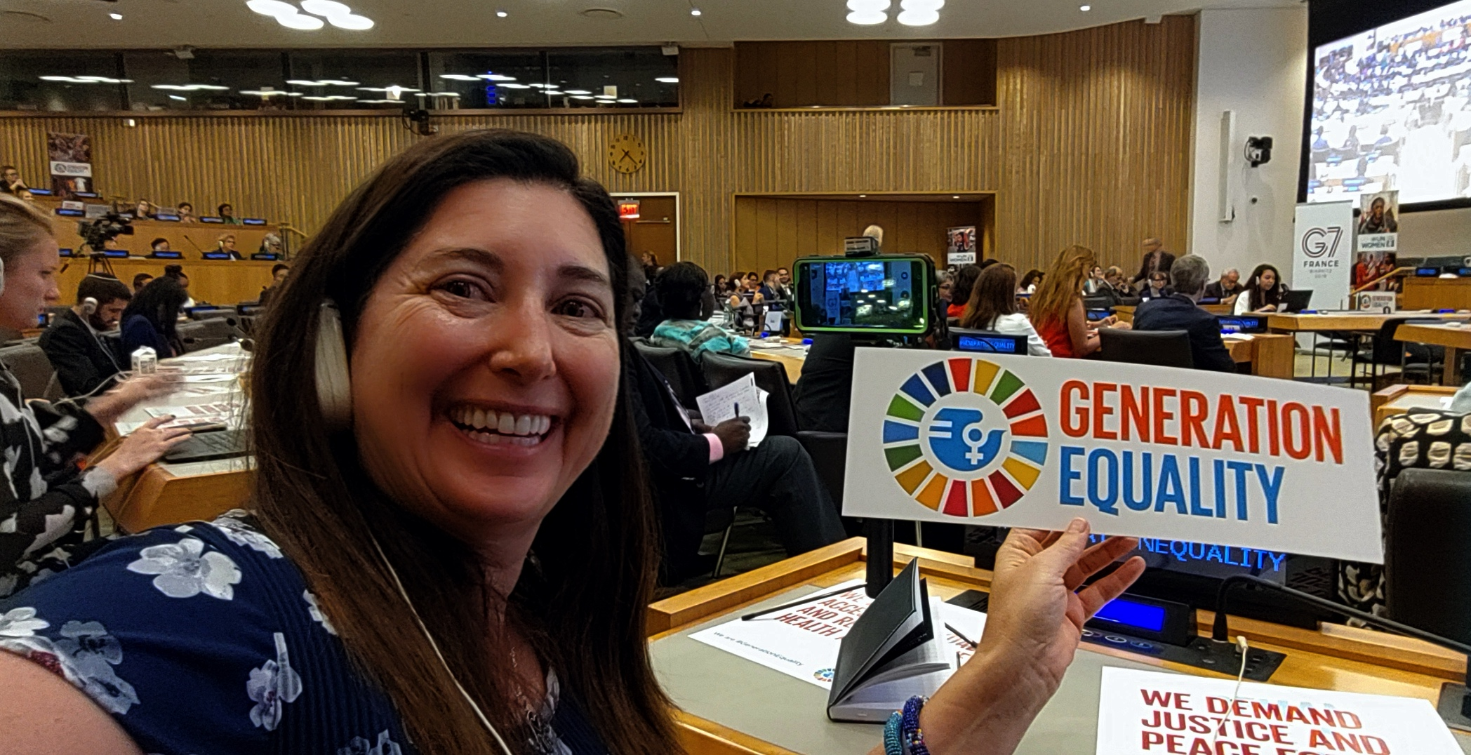 Lisa Niver at UN Women meeting Sept 23, 2019 New York City