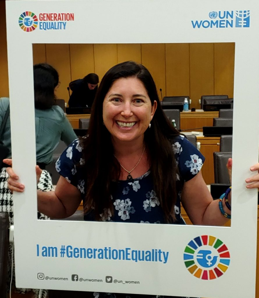 Lisa Niver at UN Women Meeting at United Nations GA 74 SDG 2030 New York City