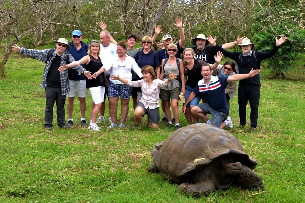Giant Tortoise on Santa Cruz Galapagos Islands with Ecoventura Theory