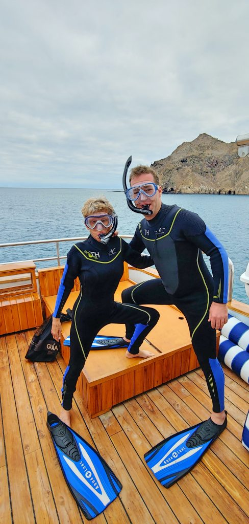 Sam Bradley and Betsy Holbrooke on Ecoventura THEORY  in the Galapagos