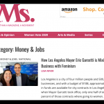 Ms. Magazine article about Los Angeles and Mayor Garcetti by Lisa Niver
