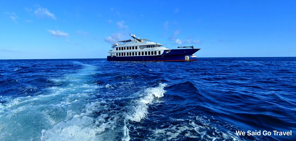 Lisa Niver traveling on Ecoventura's Theory in the Galapagos Islands