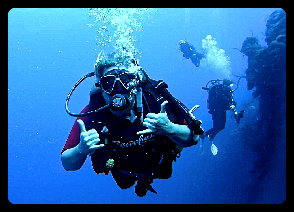 Erica Wedepohl, PADI Worldwide, Territory Director for Caribbean & Latin America underwater at Beaches Turks and Caicos