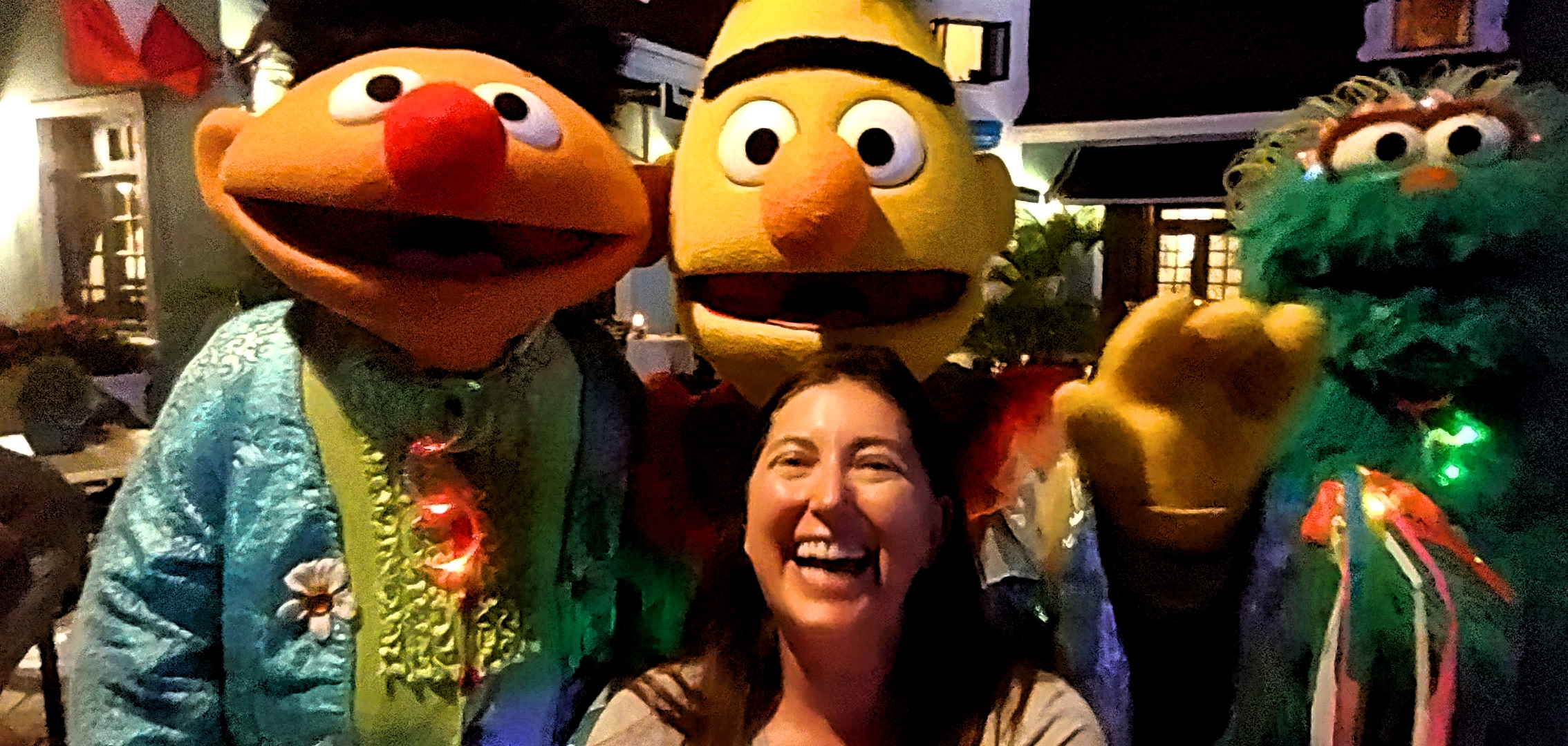 Lisa Niver at Sesame Street Parade at Beaches Turks and Caicos
