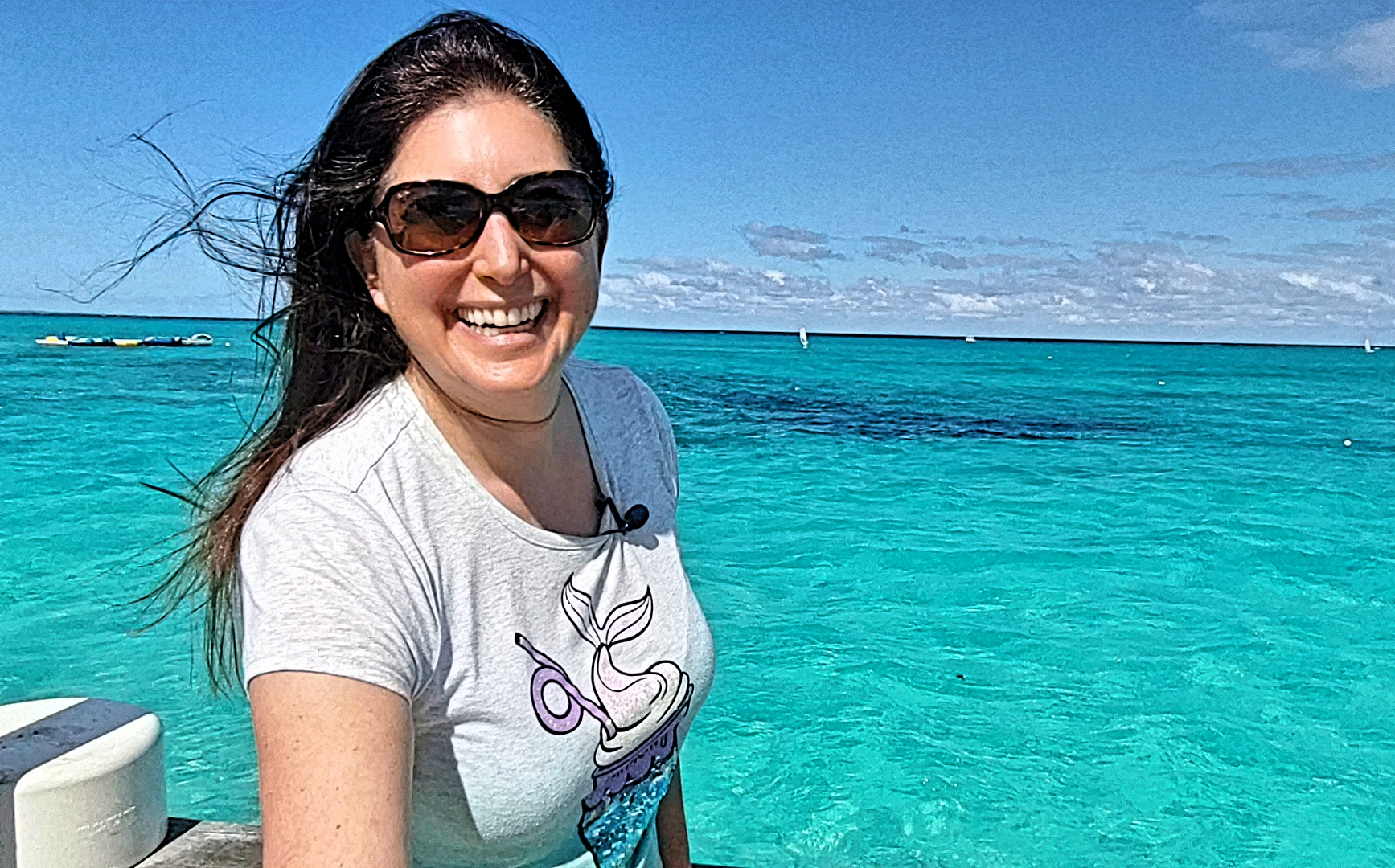 Lisa Niver at Dive-in with PADI at Beaches Turks and Caicos