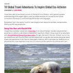 Ms. Magazine 10 trips for global eco activism
