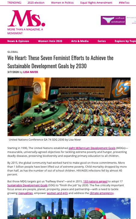 United Nations Conference GA 74 SDG 2030 by Lisa Niver
