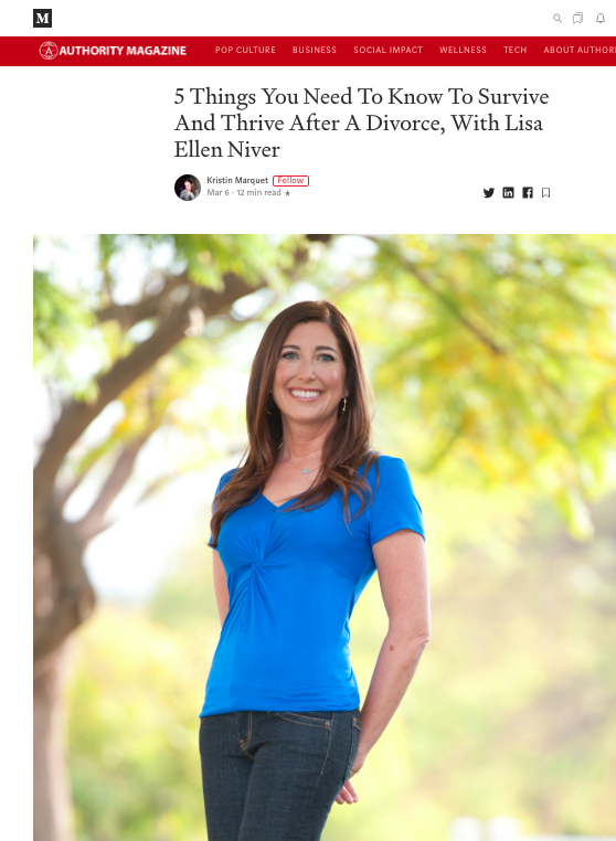 Lisa Niver interviewed about how to survive and thrive after divorce