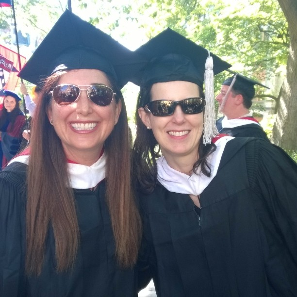 Lisa and Barbara at Penn Graduation 2014
