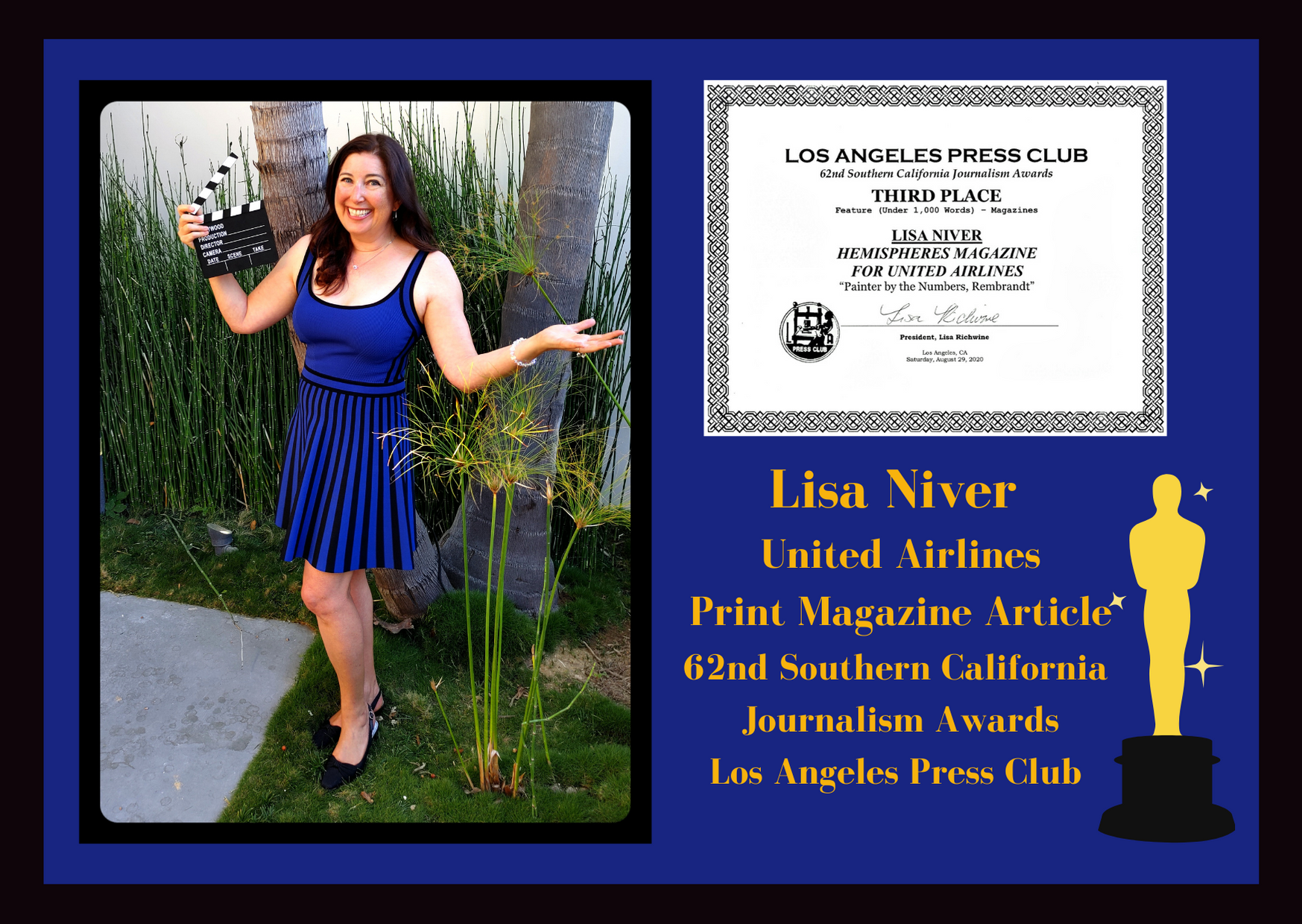 Lisa Niver winner 62nd Southern California Journalism Awards