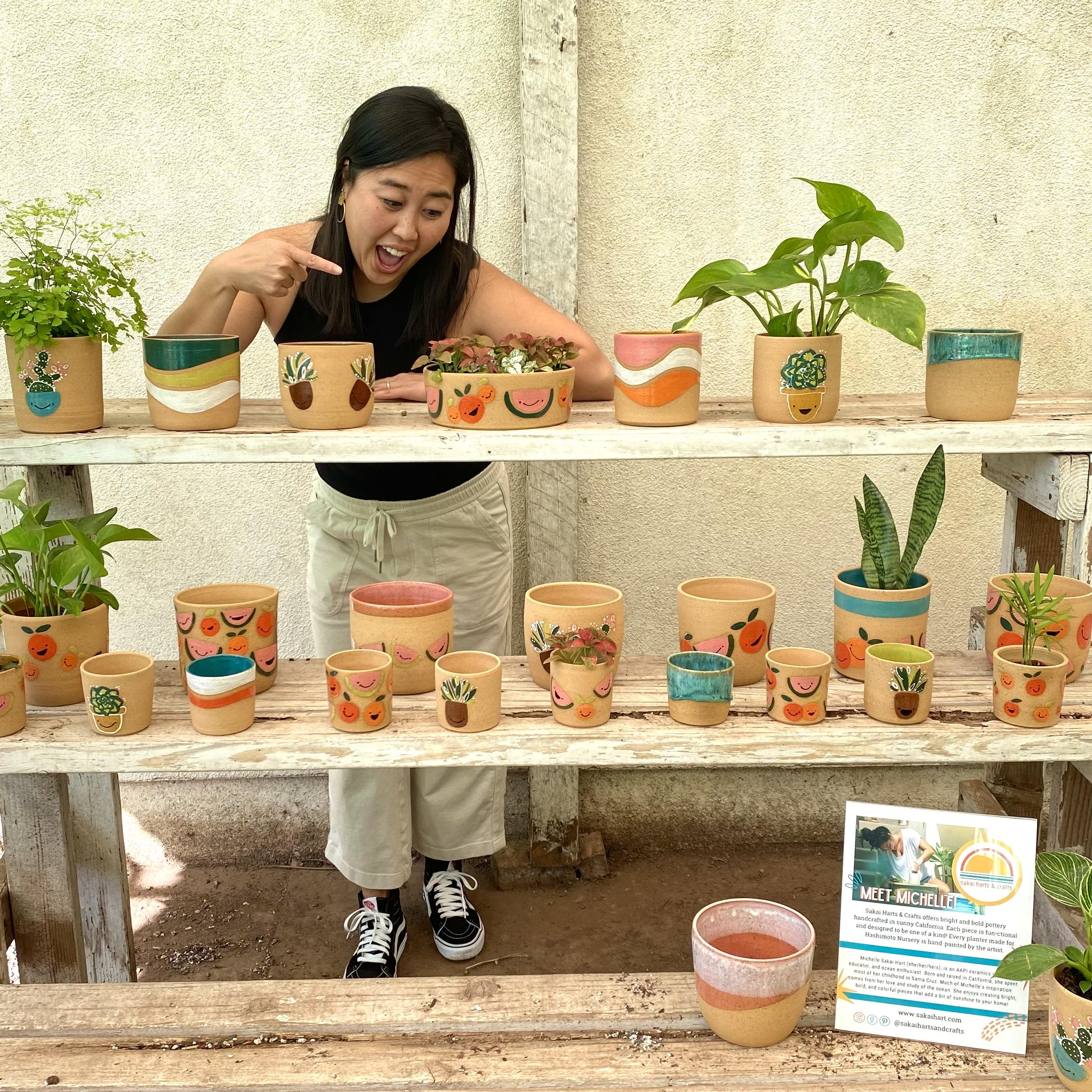 Michelle Sakai Hart & crafts ceramic