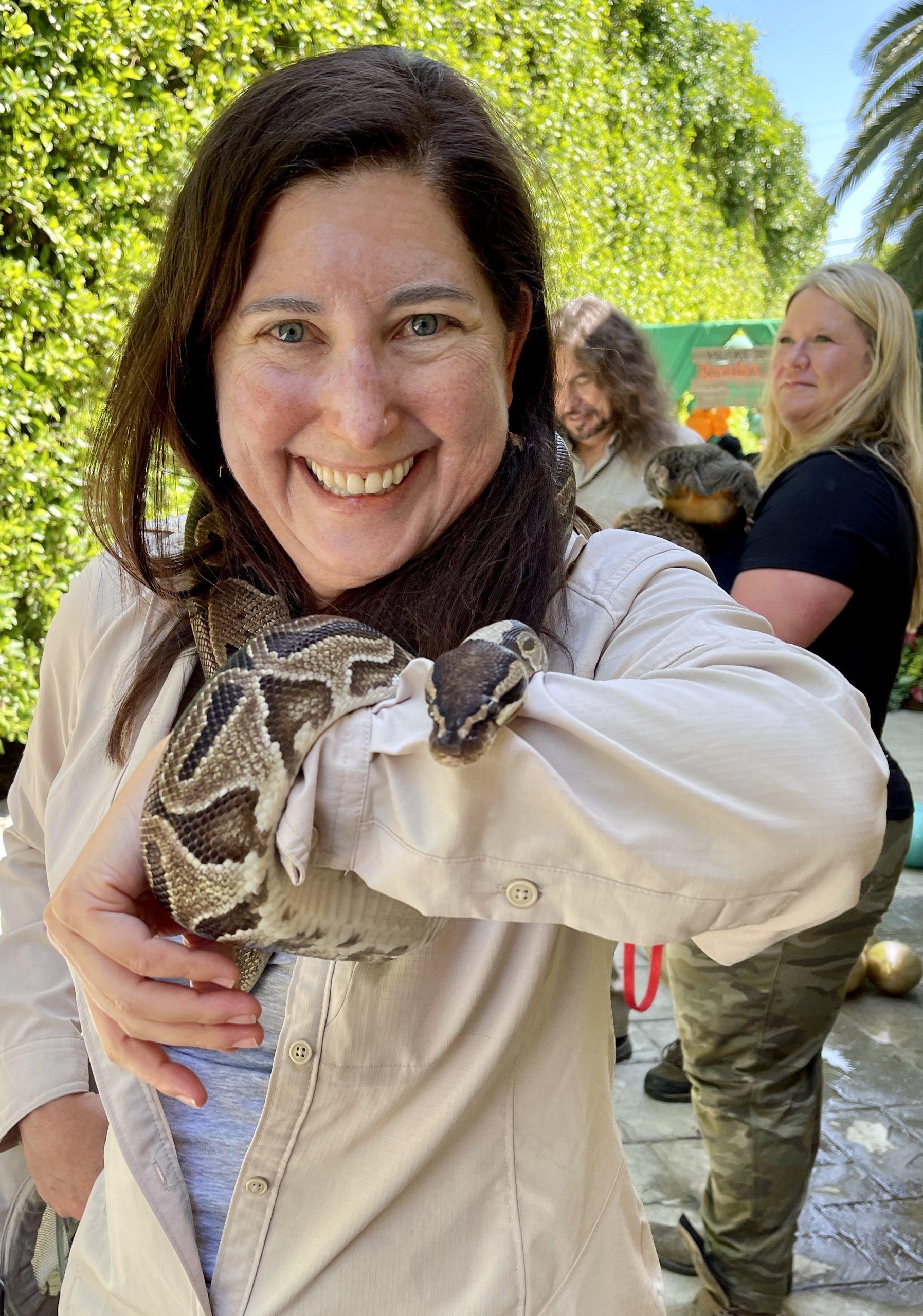 Lisa Niver and snake