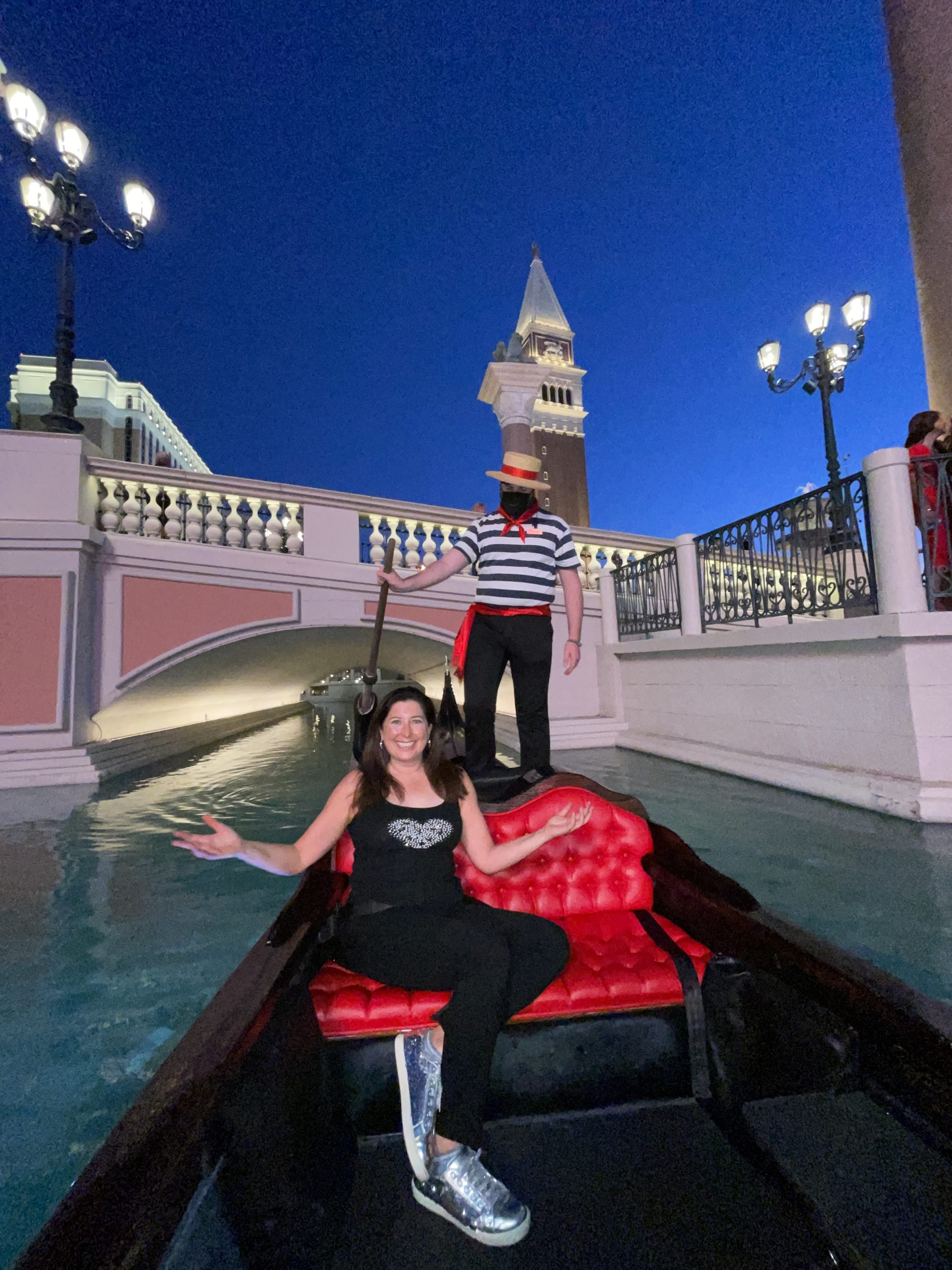 Lisa Niver Gondola Sept 2021 Venetian Resort